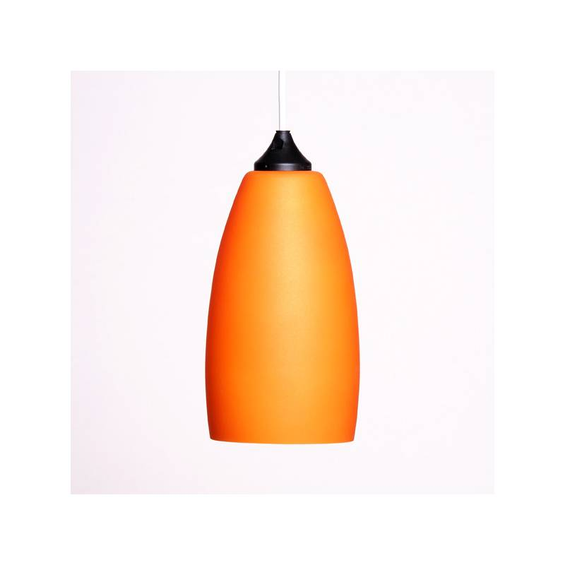 Opal glass painted lampshade 4327