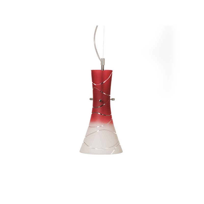 Cristalglass pained lampshade 4370 with decor - waves