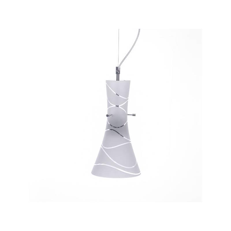Lampa 4370 jasna malowana farbą zdobiona - fale