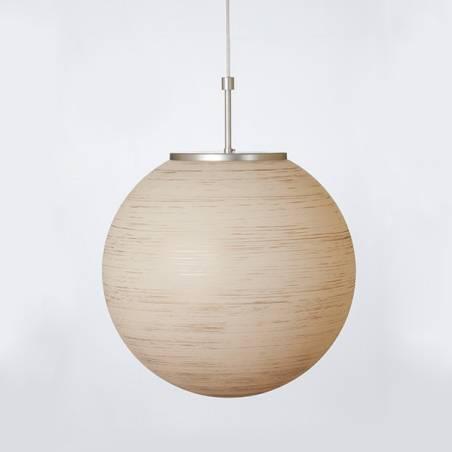 Lampenschirm 4500 hell bemalt und mit Spirale verziert - d. 400/150 mm