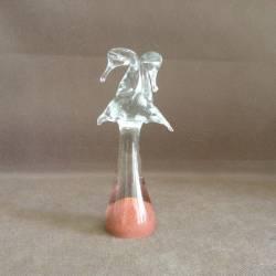Figurka ze szkła jasnego z alabastrem - Dwie czaple