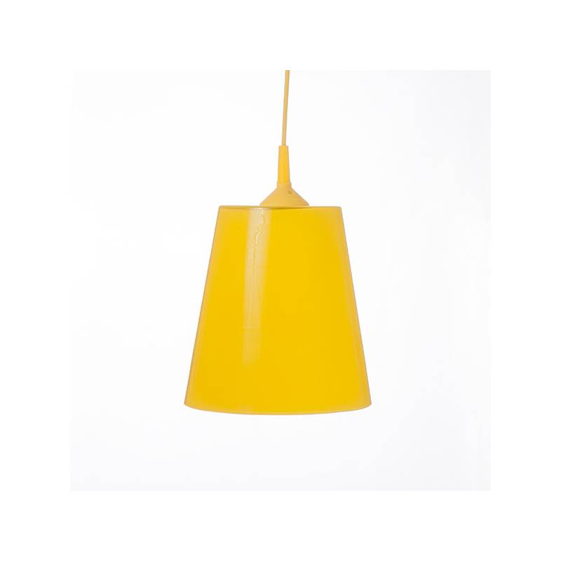 Opal/cristal glass painted lamp 4719