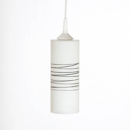 Lampa 478100B E27 opalowa zdobiona - śr. 100 mm