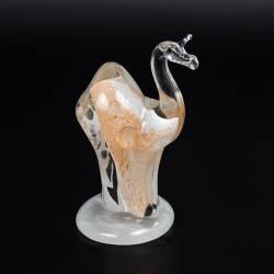 Figurka ze szkła jasnego z alabastrem - Wielbłąd