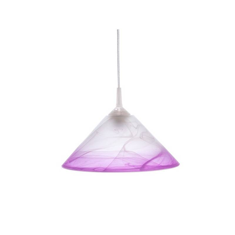 Cristal glass pained lampshade 1053 with decor - d. 300/43 mm