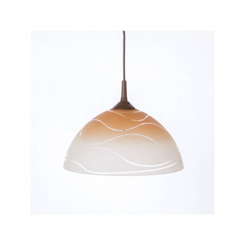 Cristal glass pained lampshade 1059 with decor - waves - d. 300/42 mm