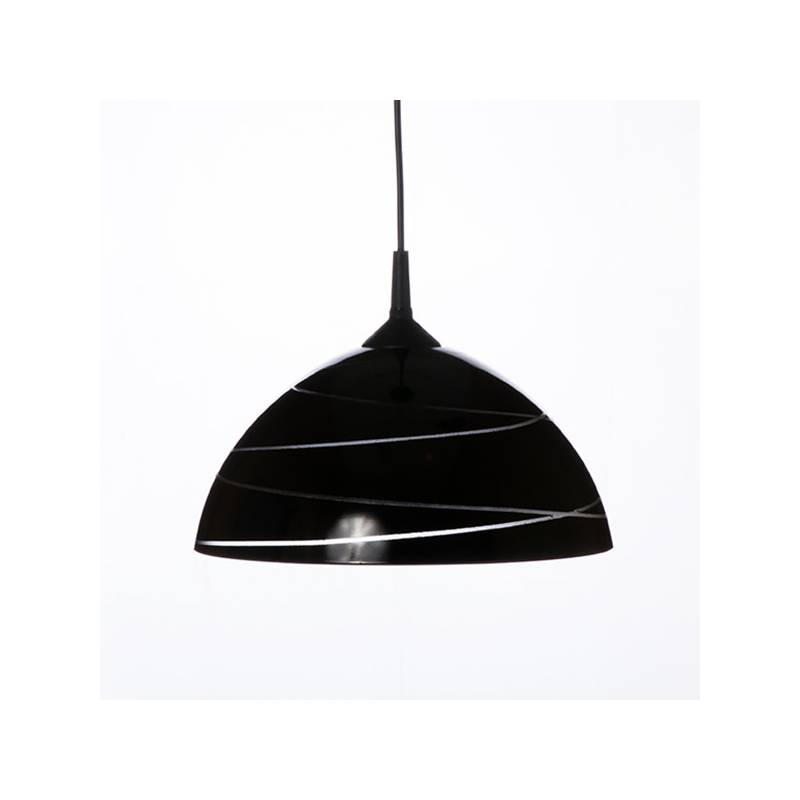 Cristal glass pained lampshade 1059 with decor - d. 300/42 mm