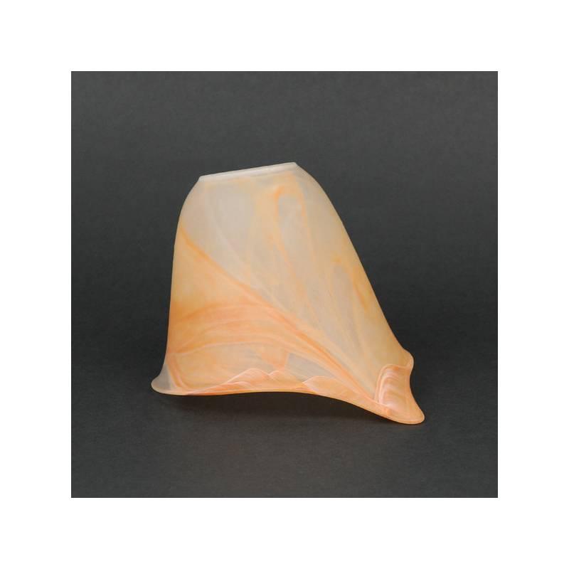 Klosz 1060 E27 jasny matowy z alabastrem - śr. 140/42 mm