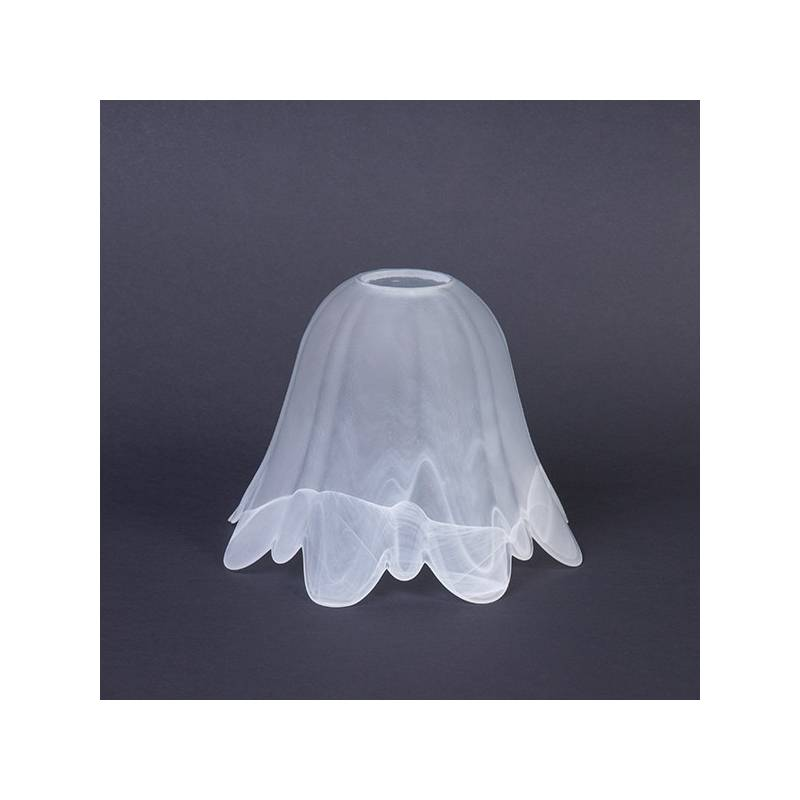 Cristal glass matte lampshade 1062 E27 with alabaster - d. 180/42 mm