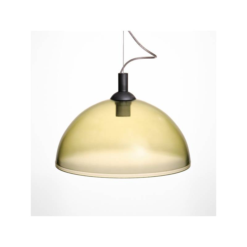 cristal glass painted lamp 1069 - d. 350/42 mm