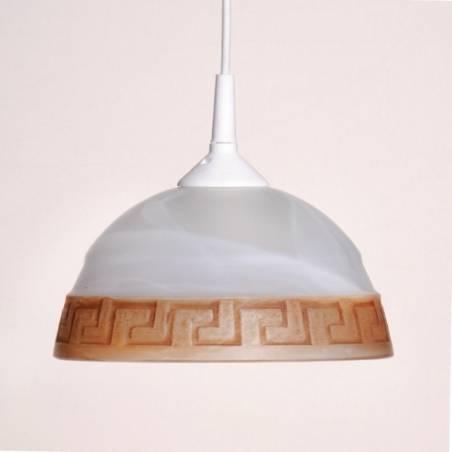 Klosz 1092 jasny malowany farbą z alabastrem - śr. 215/42 mm
