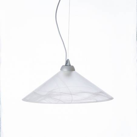 Cristal glass matte lampshade 1110 with alabaster in different options - d. 420/45 mm