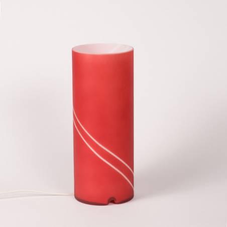 "Lampa 4348 ""Matylda mini"" stołowa opalowa zdobiona - h. 250 mm"