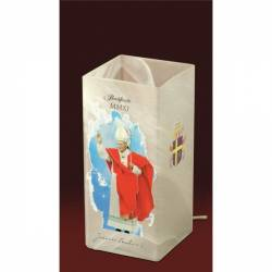 Table lamp 4419 with Pope image - h. 210 mm