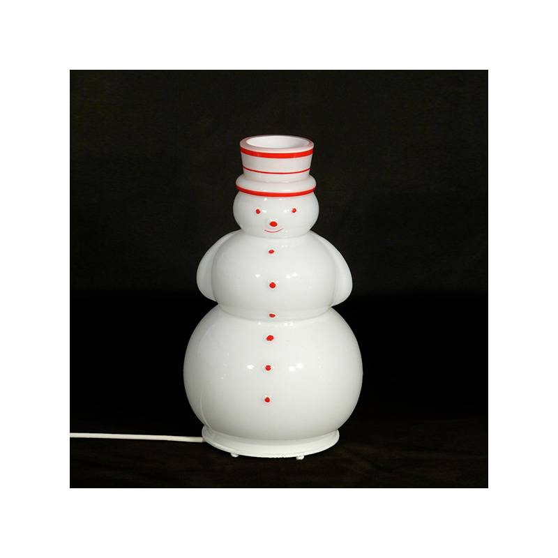 "Opal glass painted table lamp 4427 ""Snowman"" - h. 210 mm"