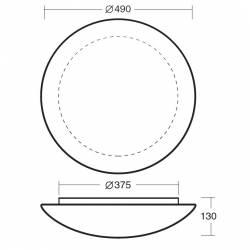 Plafon AURA 5 opalowy matowy - śr. 490 mm