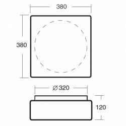 Plafon LINA 6 opalowy matowy - dł. 380 mm