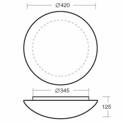 Plafon AURA 11 opalowy matowy - śr. 420 mm