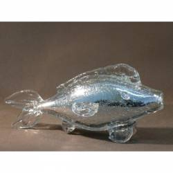 Cristal glass figurines with alabaster - Dolphin