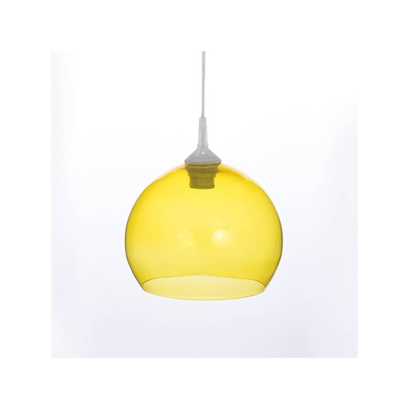 Clear glass painted lampshade 4070 - d. 250/45 mm