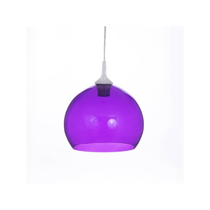 Cristal glass painted lamp 4070 - d. 250/45 mm