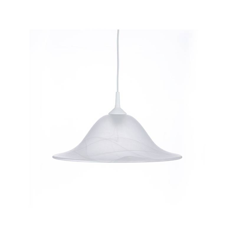 Cristal glass matte lampshade 1104 with alabaster - d. 400/42 mm