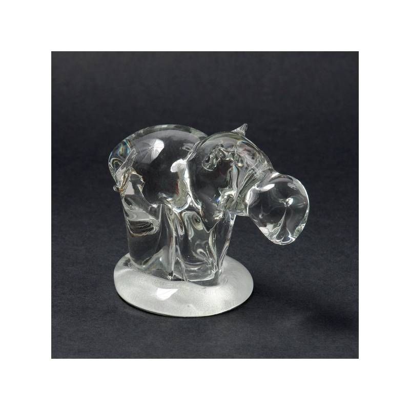 Cristal glass figurines - Hippo