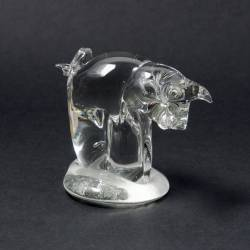 Cristal glass figurines - Pig