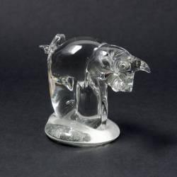 Figurka ze szkła jasnego - Świnka