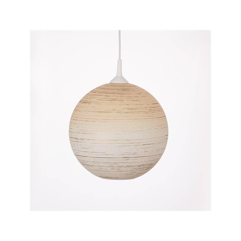 Lampa 4057 jasna malowana farbą zdobiona - śr. 300/42 mm