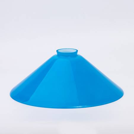 Opal glass painted lampshade 347 - d. 300/58 mm
