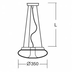 Lampa SATURN L1 LED opalowa matowa - śr. 350 mm