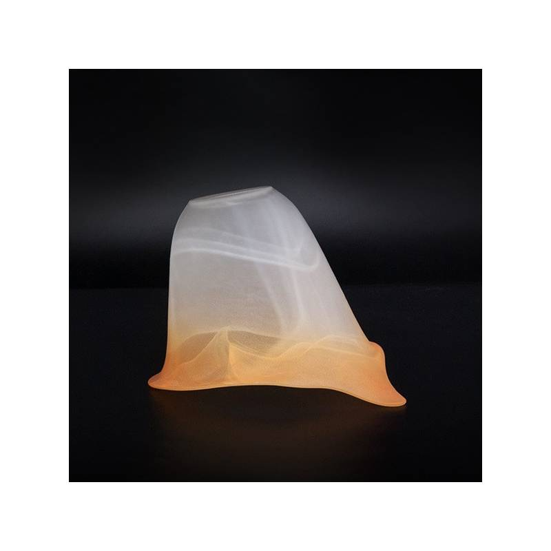 Cristal glass matte lampshade 1060 E27 with alabaster - d. 140/42 mm