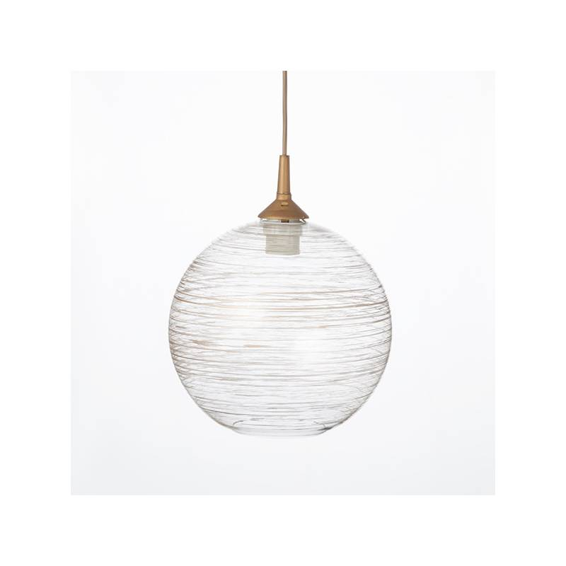Clear glass lampshade 4054 with decor - d. 250/42 mm