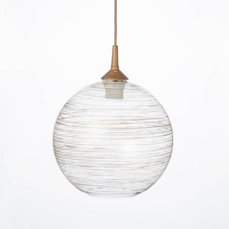 Clear glass lampshade 4054 with decor - d. 250/45 mm
