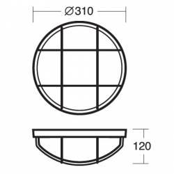 Plafon ELEKTRA 5 - dł. 310 mm