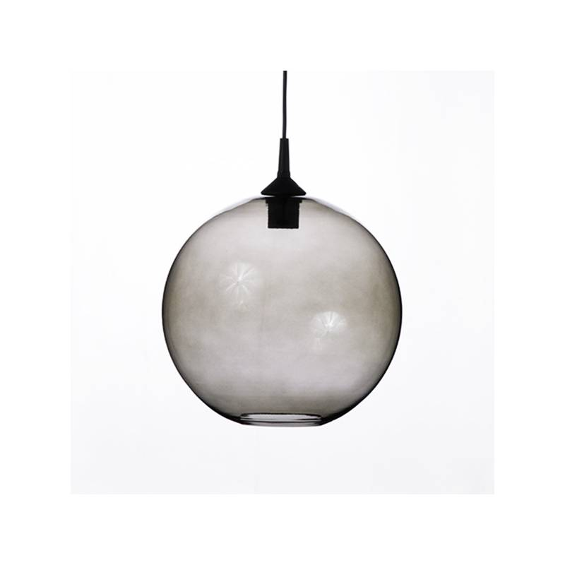 Clear glass painted lampshade 4054 - d. 250/42 mm