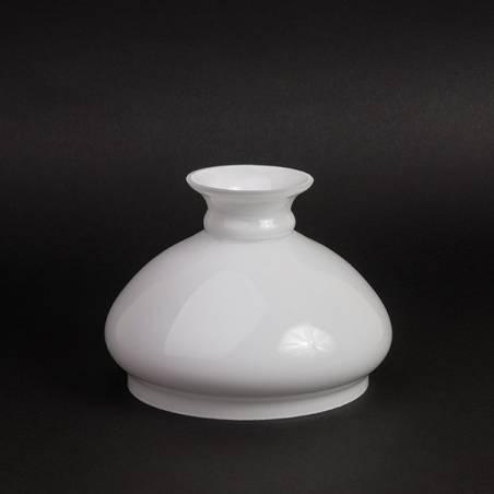 Klosz 0098X do lampy naftowej opal - aladyn - otw.mont. 124 mm