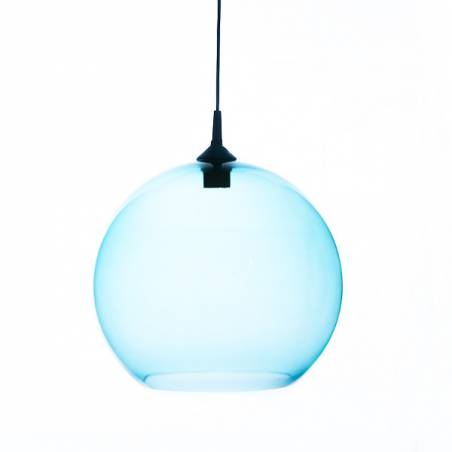 Opal/cristal glass painted lamp 4067 - d. 350/45 mm
