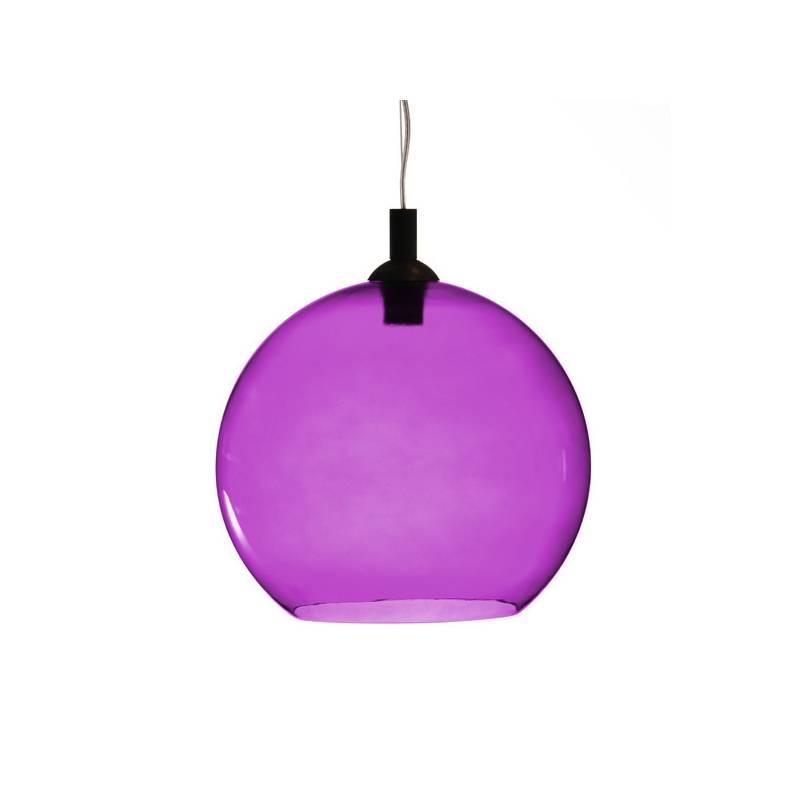 Opal/cristal glass painted lamp 4067 - d. 350/45 mm