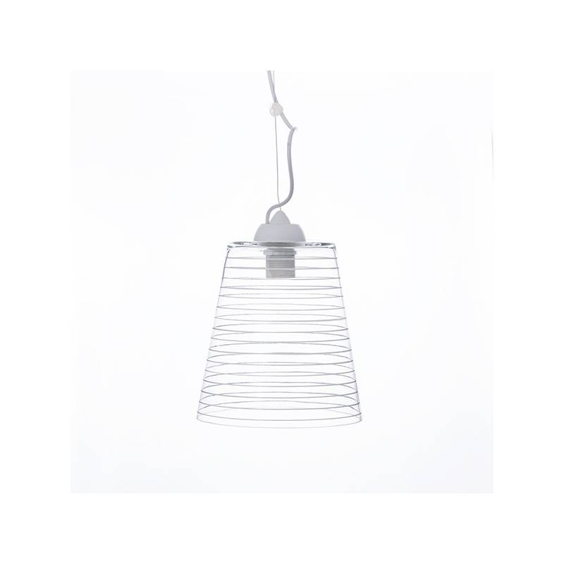 Clear glass lampshade 4719 with decor - d. 220/47 mm