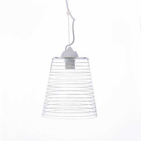 Clear glass lampshade 4719 with decor - d. 220/42 mm