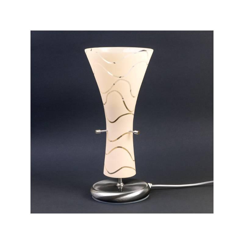 Lampa 4370 stołowa jasna malowana farbą zdobiona - fale