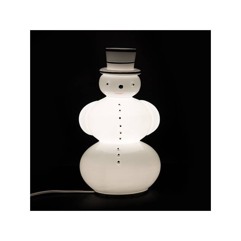 """Opal glass painted table lamp 5603 """"Snowman"""" - h. 280 mm"""