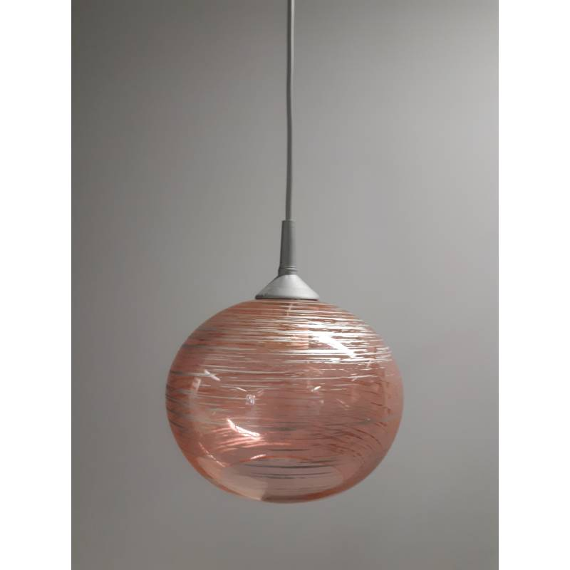 Cristal glass painted lamp 4055 with decor - d. 200/45 mm