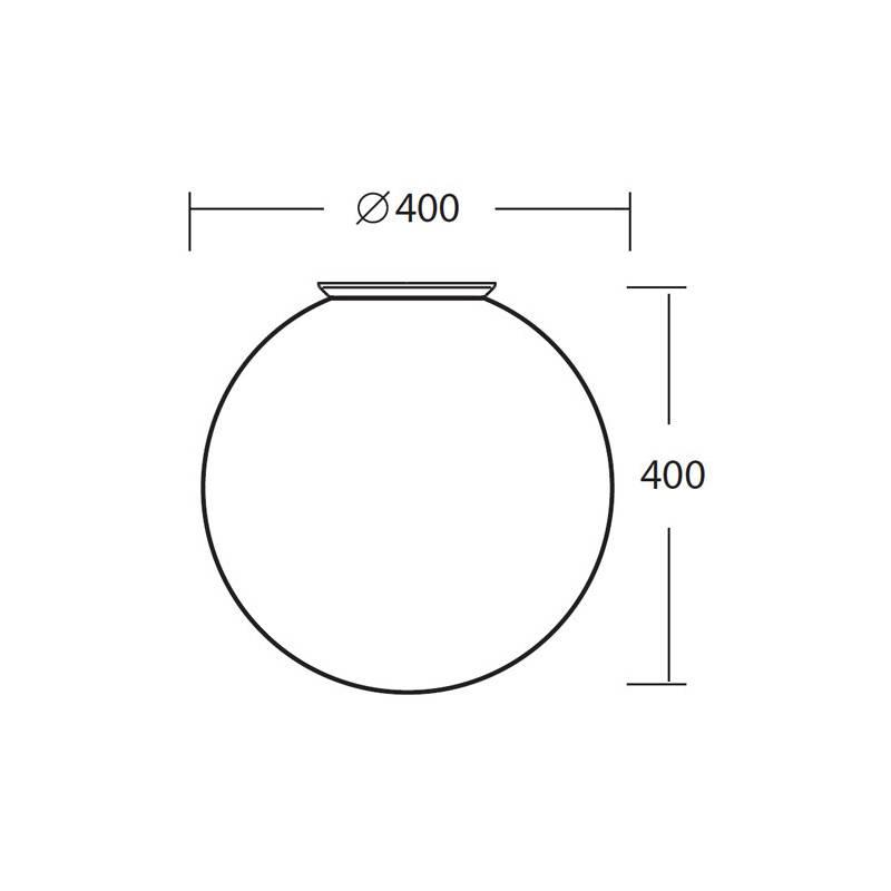 Plafon STYX 4 opalowy matowy - śr. 400 mm