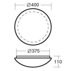 Plafon TITAN 2 - śr. 400 mm