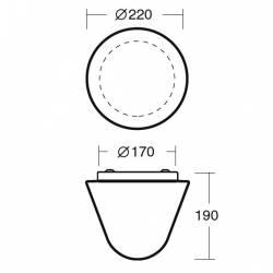 Plafon DRACO 1 opalowy matowy - śr. 220 mm