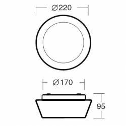 Plafon CRATER 1 opalowy matowy - śr. 220 mm