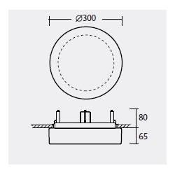 Plafon ELSA V2 opalowy matowy - śr. 300 mm